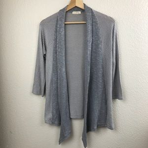 Anthropologie Pins & Needles Striped open cardigan